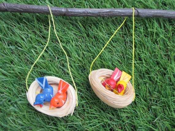 Bird Nests Easter Ornaments