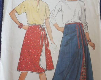 Butterick 6307, Wrap Skirt Sewing Pattern