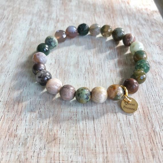 Genuine Indian Agate Stone Bracelet