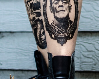 Frankenstein's Monster Halloween Temporary Tattoo