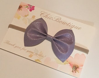 Purple Sparkles Butterfly Bow