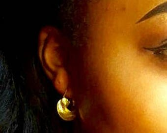 Small Gold Fulani African earrings/ boucles d'oreilles Fulani