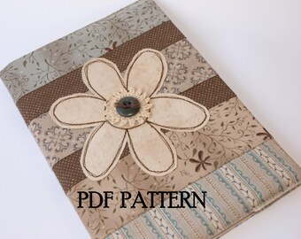 Journal Cover PDF Pattern, Direct Download - 'Daisy'