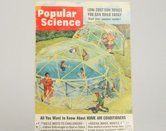 Sun Dome Plan and Popular Science Magazine March 1966, DIY Geodesic Dome Project
