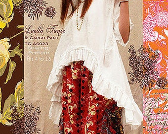 LUELLA Tunic & Cargo Pants TG-A6023 Sewing Pattern By Tina Givens- Lagenlook Style!