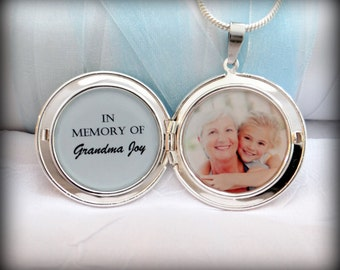 In Memory of . . . Custom Photo Locket Necklace