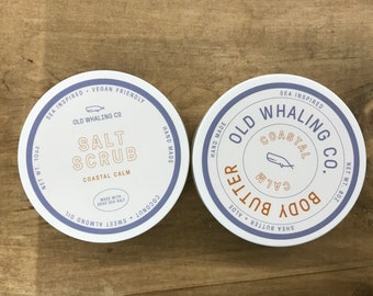 Coastal Calm gift set | ONE salt scrub | ONE body butter || handmade / natural / exfoliating / moisturizing / spa day / pamper / relaxing