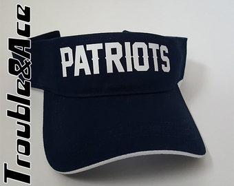 TPS Patriots Visor Navy Blue and White T-Prep Spirit Wear Temecula Preparatory School