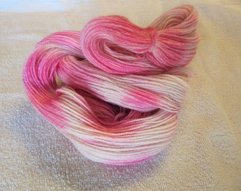 100% Superfine Alpaca - Gradient Hand Dyed - Pink - 3 Ply Fingering Weight Yarn - 200 Yds - 19-22 WPI