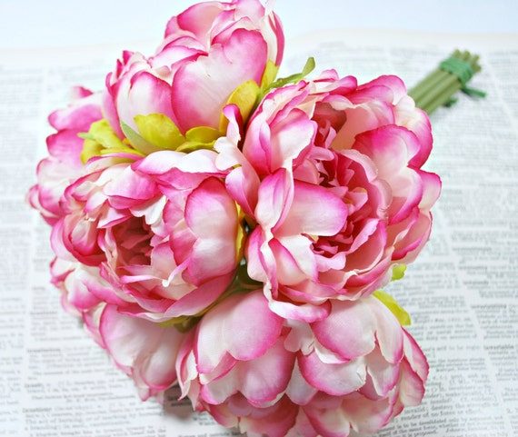 Artificial peonies flower bouquet peony bouquet weddings artificial peonies flower bouquet peony bouquet weddings floral supplies silk flowers artificial peony pink peonies from craftynestsupplies on mightylinksfo Image collections