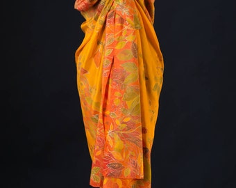 Hand Painted Silk Sarong
