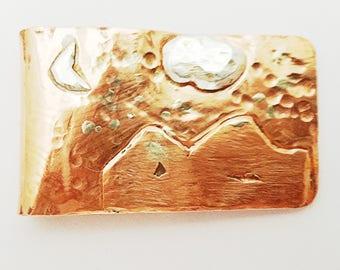 Money Clip, Copper Money Clip, Copper and Sterling Silver, Handmade Money Clip, Copper & Sterling Silver Money Clip, Artisan Money Clip