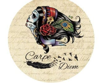 "pretty cabochon ""carpe diem"" 25mm"