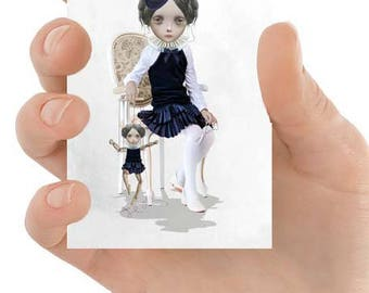 ACEO Card | ACEO Art Print | Puppet ACEO Card | Lowbrow Art | No Strings Attached