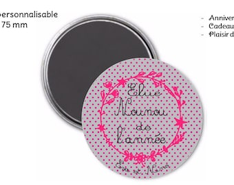 Custom 75 mm Pocket mirror and pouch - message for nanny
