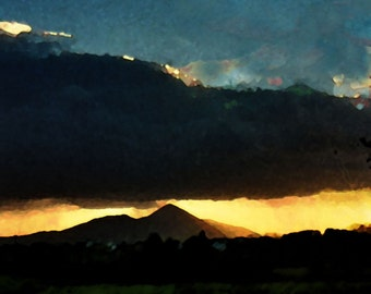 Note cards - Sunset Croagh Patrick, Co Mayo, Ireland - available in packs of five.