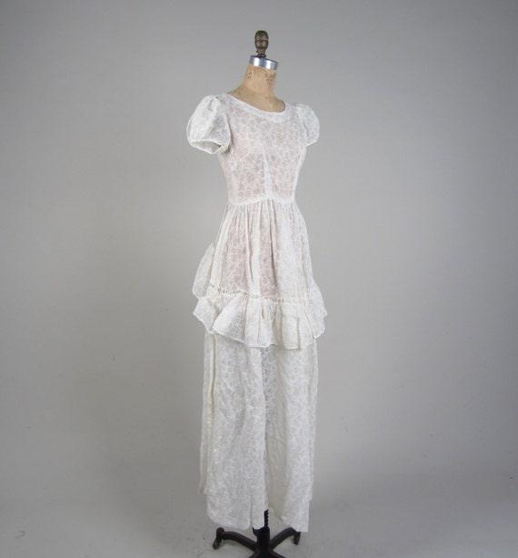 Vintage White Bride SALE Dress Sheer Gown Vintage True Diaphanous ...