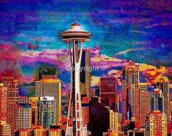 Space Needle Seattle USA  - Print Run of 100