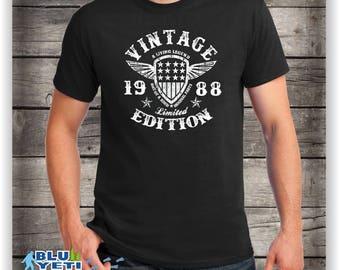 30th Birthday gift  ,1988,Turning 30 , 30 Years Old ,Tshirt, gift for 30 year old,30th Birthday Shirt,Dirty Thirty Club 1988