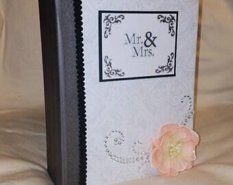 Wedding photo album, wedding scrapbook album, wedding mini album, wedding mini scrapbook album, wedding album, premade scrapbook album, OOAK