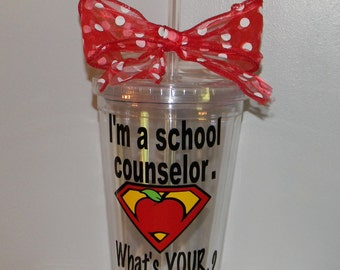 Personalized School Counselor  Gift - Counselor Gift - Counselor Cups - Counselor Gifts - Counselor Mugs - School Counselor Cups - Counselor