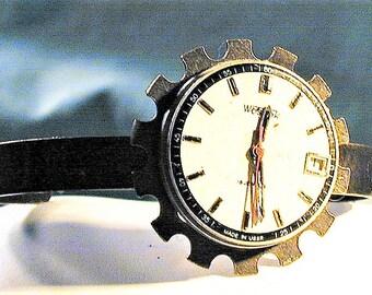 Steampunk Russian Watch Dial & Movement Bracelet  OOAK