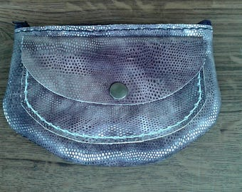Zippered leather Purse
