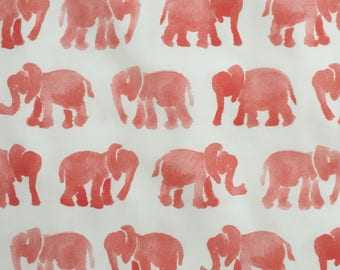 custom baby blanket ~ coral watercolor elephants ~ chic couture ~ baby accessories ~ custom made baby blanket from lillybelle designs