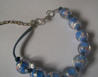 Blue Murano Beads Bracelet