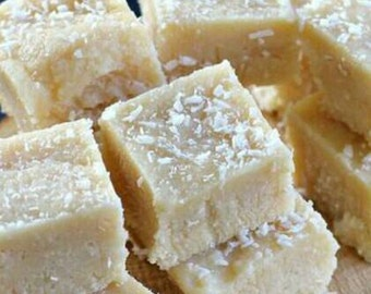 Vegan toasted coconut fudge