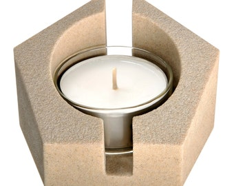 Tea light holder Pentagram