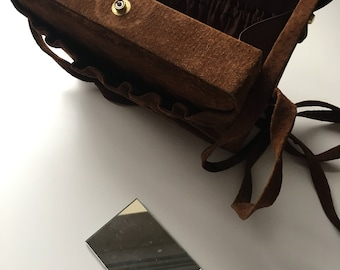 Vintage suede box style bag very good condition
