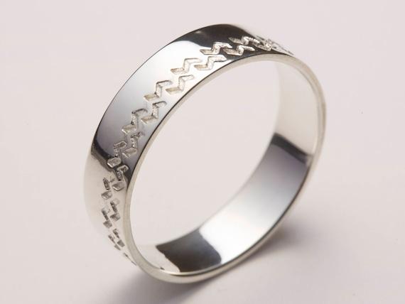 Mens Wedding Band Men Wedding Ring White Gold White Gold