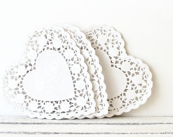 White Doily, Heart Doily, Wedding Doily, Paper Doilies, Lace Heart Doilies, White Heart Doily, Lace Paper Doilies, Gift Wrapping, Packaging