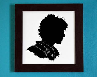 The 100 - Bellamy Blake - Silhouette Portrait Print