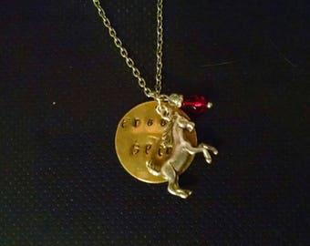 Free spirit horse pendant