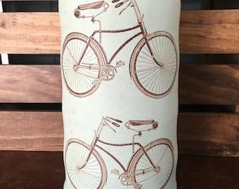 Durable Green Stoneware Bicycle Flower Vase