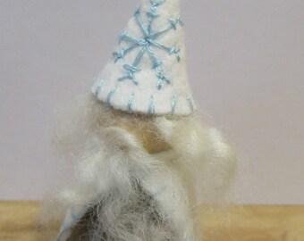 Snow King/White Wizard Peg Doll Waldorf Toy
