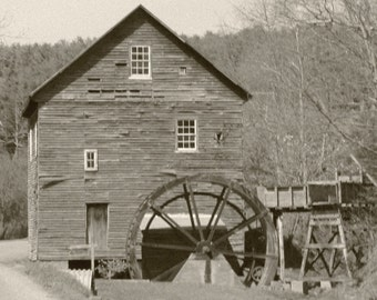 """From the """"Appalachian Scenic"""" Series.  Black and White Mill"""