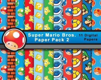 Papel Super Mario (Pack 2)