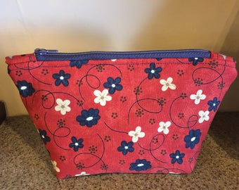 Zipper pouch, makeup bag