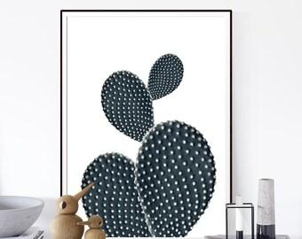 Cactus, Cactus Print, Monochrome Art, Botanical Print,Botanical Art, Cactus Photography, Aloe Print,Cactus Wall Art,Affiche Scandinave