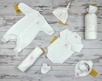New Baby Gift, Take Home Baby Girl Outfit, Newborn Girl Set, Baby Girl First Outfit, Organic Baby Set, Infant Girl Outfit, Cute Girl Clothes