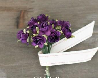 Miniature Grape Millinery Paper Roses