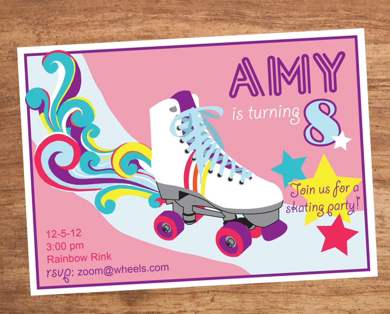Roller Skating Party Invitation