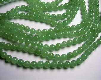 Green Aventurine - 10 mm round beads -1 full strand - 38 beads - A quality - RFG975