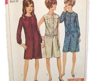 Simplicity 6627 Misses One Piece Dress Size 12 UNCUT