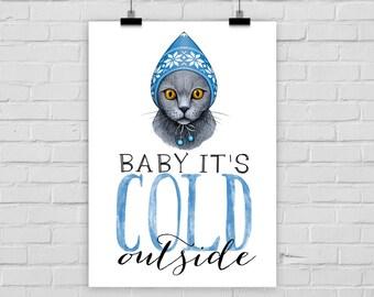 Kunstdruck COLD CAT