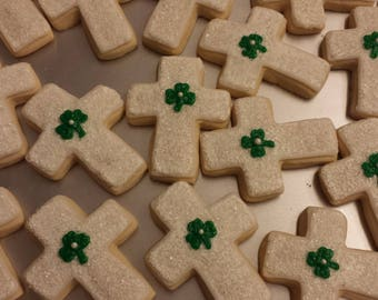 Cross First Communion Cookies - sold by the dozen