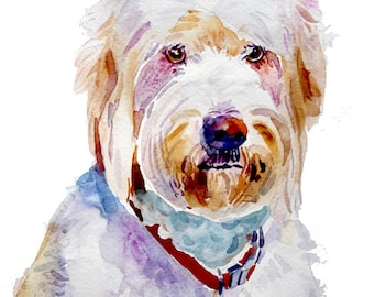 Watercolor Painting  Custom Portraits  Pet Portrait Watercolor  Dog  Dog Portrait Original Watercolor